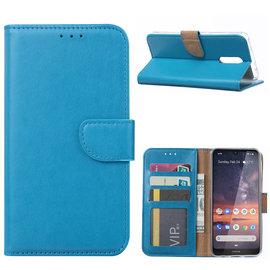 Ntech Ntech Nokia 3.2 Portemonnee Hoesje / Book Case Turquoise