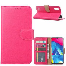 Ntech Ntech Samsung Galaxy M10 Portemonnee Hoesje / Book Case - Roze/Pink