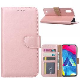 Ntech Ntech Samsung Galaxy M10 Portemonnee Hoesje / Book Case - Rose Goud