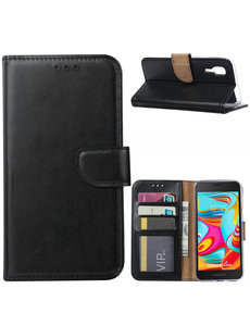 Ntech Ntech Samsung Galaxy A2 Core Portemonnee Hoesje / Book Case - Zwart