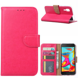 Ntech Ntech Samsung Galaxy A2 Core Portemonnee Hoesje / Book Case - Pink/Roze