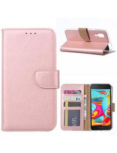 Ntech Ntech Samsung Galaxy A2 Core Portemonnee Hoesje / Book Case - Rose Goud