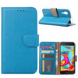 Ntech Ntech Samsung Galaxy A2 Core Portemonnee Hoesje / Book Case - Blauw