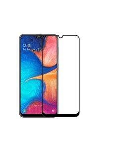 Ntech Ntech Samsung Galaxy A20 full cover Screenprotector Tempered Glass - Zwart