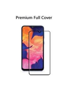 Ntech Ntech Samsung Galaxy A10 Premium Glass full cover Screenprotector Tempered Glass - Zwart