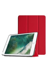 Ntech Ntech Apple iPad Air (2019) Ultra Slim Smart hoesje met Trifold Cover Stand Transparant & Rood