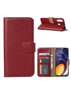 Ntech Ntech Samsung Galaxy A60 Portemonnee Hoesje / Book Case - Bordeaux Rood