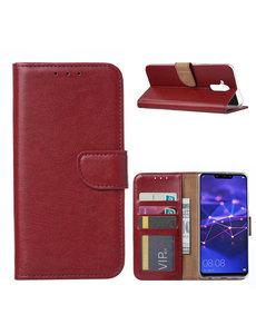Ntech Ntech Huawei Mate 20 Lite Portemonnee Hoesje / Book Case - Bordeaux Rood