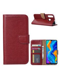 Ntech Ntech Huawei P30 Lite / P30 Lite New Edition Portemonnee Hoesje / Book Case - Bordeaux Rood