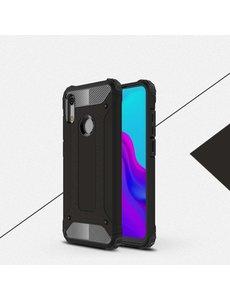 Ntech Ntech Huawei Y6 (2019) Dual layer Armor Hoesje - Zwart
