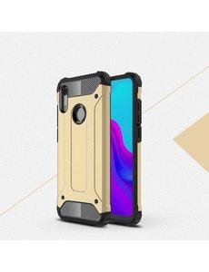 Ntech Ntech Huawei Y6 (2019) Dual layer Armor Hoesje - Goud