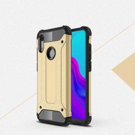 Ntech Ntech Huawei Y6 (2019) Dual layer Rugged Armor hoesje /  Hard PC & TPU Hybrid case - Goud