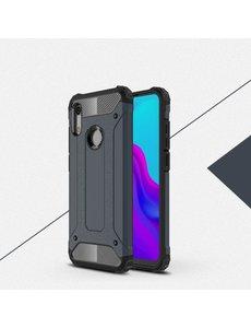 Ntech Ntech Huawei Y6 (2019) Dual layer Armor Hoesje - Blauw
