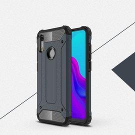 Ntech Ntech Huawei Y6 (2019) Dual layer Rugged Armor hoesje /  Hard PC & TPU Hybrid case - Blauw