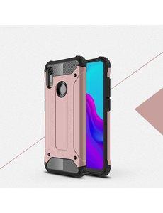 Ntech Ntech Huawei Y6 (2019) Dual layer Armor Hoesje - Rose Goud