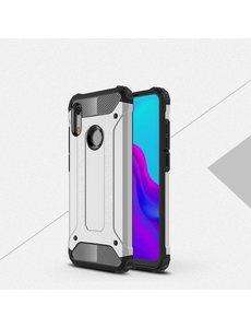 Ntech Ntech Huawei Y6 (2019) Dual layer Armor Hoesje - Zilver