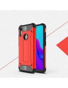 Ntech Ntech Huawei Y6 (2019) Dual layer Armor Hoesje - Rood