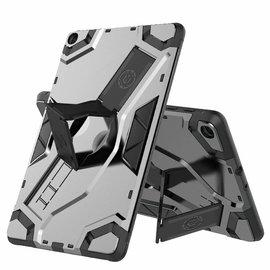 Ntech Ntech Escort Armor hoesje met standaard & 2 lagen Hybrid shockproof Case Samsung Galaxy Tab A 10.1 (2019) - Space Gray
