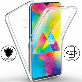 Ntech Ntech Samsung Galaxy M20 Dual TPU Case hoesje 360° Cover 2 in 1 Case ( Voor en Achter) Transparant