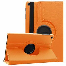Ntech Ntech Samsung Galaxy Tab A 10.1 (2019 ) Boek Hoesje met 360° draaistand SM T510 / T515 - Oranje