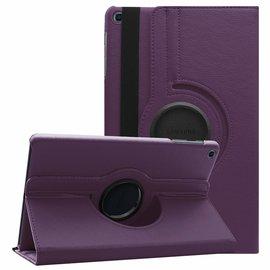 Ntech Ntech Samsung Galaxy Tab A 10.1 (2019 ) Boek Hoesje met 360° draaistand SM T510 / T515 - Paars