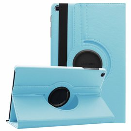 Ntech Ntech Samsung Galaxy Tab A 10.1 (2019 ) Boek Hoesje met 360° draaistand SM T510 / T515 - Licht Blauw