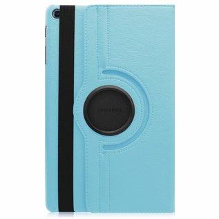 """Ntech Ntech Samsung Galaxy Tab A 10.1"""" SM T510 / T515 2019 Tablet Hoesje met 360° draaistand - Licht Blauw"""
