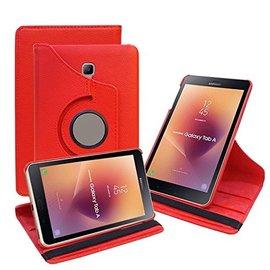 Ntech Ntech Samsung Galaxy Tab A 8.0 inch T380-T385 hoesje Book Cover 360° draaibaar Multi stand - Rood