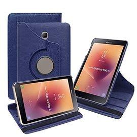 Ntech Ntech Samsung Galaxy Tab A 8.0 inch T380-T385 hoesje Book Cover 360° draaibaar Multi stand - Donker Blauw