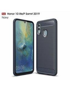 Ntech Ntech Soft Brushed TPU Hoesje voor Huawei P Smart 2019 - Donker Blauw