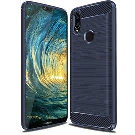 Ntech Ntech Soft Brushed TPU Hoesje voor Huawei P20 Lite - Donker Blauw