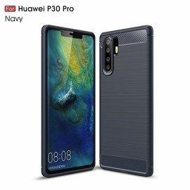 Ntech Ntech Soft Brushed TPU Hoesje voor Huawei P30 Pro - Donker Blauw