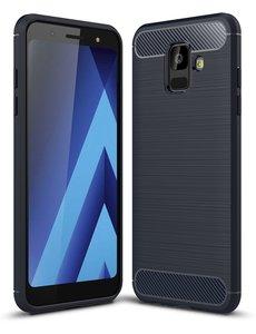 Ntech Ntech Soft Brushed TPU Hoesje voor Samsung Galaxy A6 (2018) - Donker Blauw