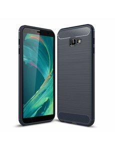 Ntech Ntech Soft Brushed TPU Hoesje voor Samsung Galaxy J4+ (2018) - Donker Blauw