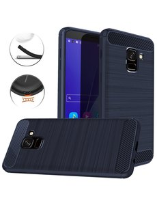 Ntech Ntech Soft Brushed TPU Hoesje voor Samsung Galaxy J6 (2018) - Donker Blauw