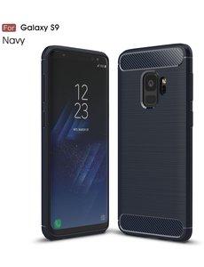 Ntech Ntech Soft Brushed TPU Hoesje voor Samsung Galaxy S9 - Donker Blauw