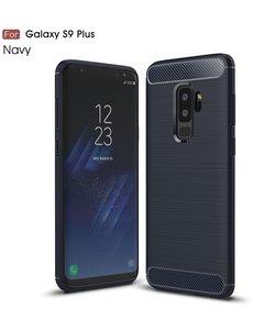 Ntech Ntech Soft Brushed TPU Hoesje voor Samsung Galaxy S9+ (Plus) - Donker Blauw