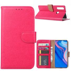 Ntech Ntech Huawei P Smart Z Portemonnee Hoesje / Book Case - Roze/Pink