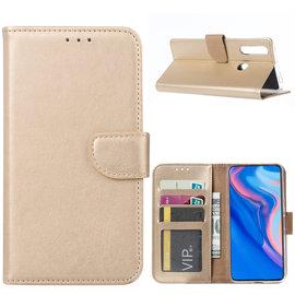 Ntech Ntech Huawei P Smart Z Portemonnee Hoesje / Book Case - Goud