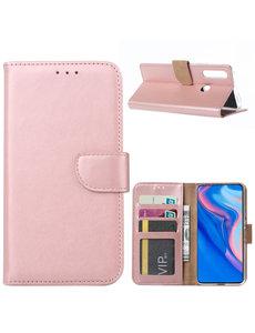 Ntech Ntech Huawei P Smart Z Portemonnee Hoesje / Book Case - Rose Goud