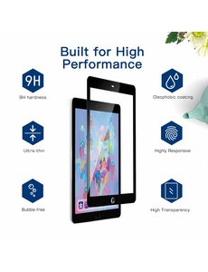 """Ntech Ntech Apple iPad 9.7"""" (2018-2017) Screenprotector 0.3mm HD clarity Hardness Tempered Glass - Zwart"""