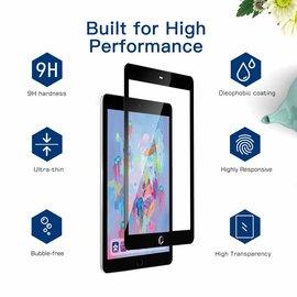 """Ntech Ntech Apple iPad 9.7"""" (2018-2017) Screen Protector 0.3mm 9H HD clarity Hardness Tempered Glass - Zwart"""