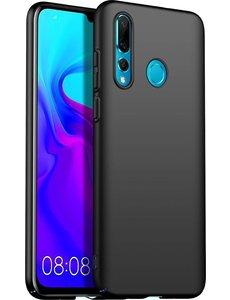 Ntech Ntech Hoesje Silicone Hoesje Flexibel & Scratch Resistent TPU Case Huawei P Smart Plus (2019) - Zwart