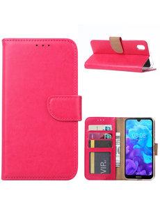 Ntech Ntech Huawei Y5 (2019) Portemonnee Hoesje / Book Case - Roze/Pink