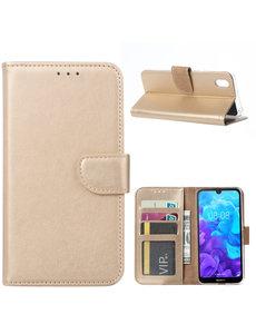 Ntech Ntech Huawei Y5 (2019) Portemonnee Hoesje / Book Case - Goud
