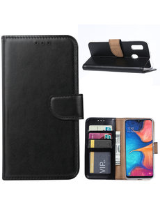 Ntech Ntech Samsung Galaxy A20e Portemonnee Hoesje / Book Case - Zwart