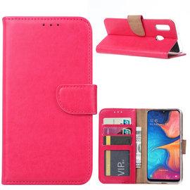 Ntech Ntech Samsung Galaxy A20e Portemonnee Hoesje / Book Case - Roze/Pink