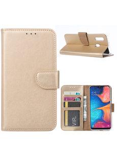 Ntech Ntech Samsung Galaxy A20e Portemonnee Hoesje / Book Case - Goud