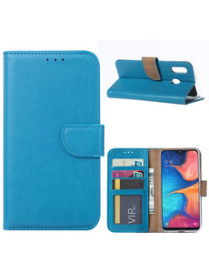 Ntech Ntech Samsung Galaxy A20e Portemonnee Hoesje / Book Case - Turquoise