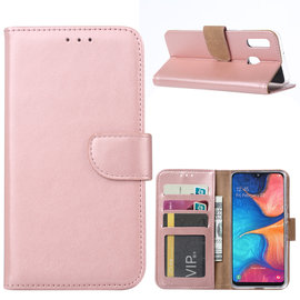 Ntech Ntech Samsung Galaxy A20e Portemonnee Hoesje / Book Case - Rose Goud